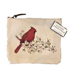 MARY LAKE THOMPSON Cardinal Blossoms Canvas Pouch