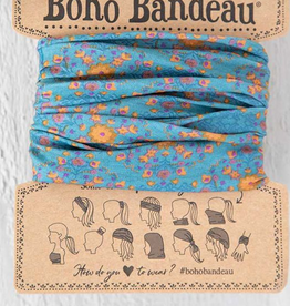 NATURAL LIFE CREATIONS BOHO BANDEAU BLUE FLOWER STAMP