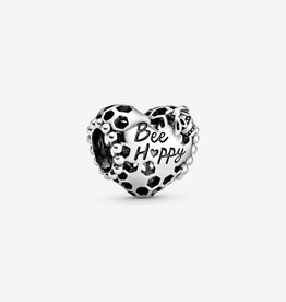 PANDORA Bee Happy Honeycomb Heart Charm
