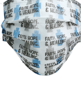 Face Mask Disposable 3-Layer Faith, Hope & Healing - (Set Of 7)