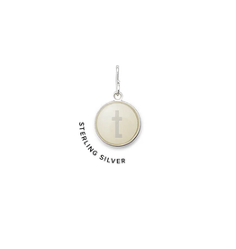 """ALEX AND ANI Initial """"T"""" Etching Charm, Sterling Silver"""