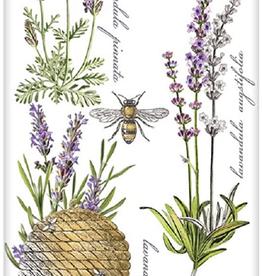 MARY LAKE THOMPSON Flour Sack Dish Towel Botanical Lavender Bee