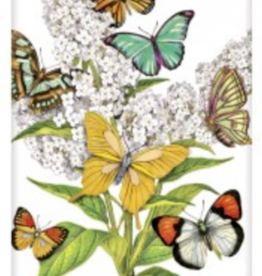 MARY LAKE THOMPSON COUNTRY FLOWERS AND BUTTERFLIES FLOUR SACK DISH TOWEL