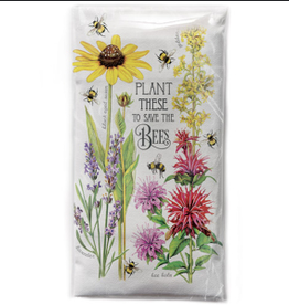 MARY LAKE THOMPSON PLANT THESE TO SAVE THE BEES FLOUR SACK DISH TOWEL
