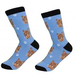 Pet Lover Unisex Socks - Tabby (Orange) Cat