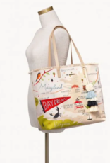 SPARTINA Bay Dreams Embroidered Large Fringe Tote
