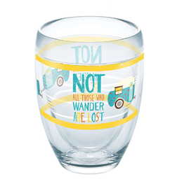 TERVIS TUMBLER 9oz. Wine Wrap- NOT ALL WHO WANDER CAMPER