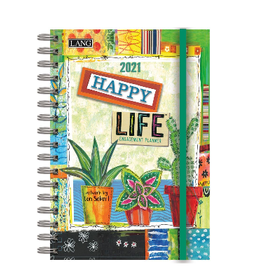 LANG COMPANIES 2021 Spiral Engagement Planner (HAPPY LIFE)