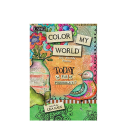 LANG COMPANIES 2021 COLOR MY WORLD MONTHLY POCKET PLANNER
