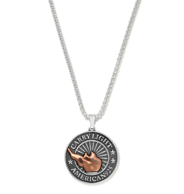 ALEX AND ANI LIBERTY COPPER | CARRY LIGHT™ Necklace, Large Men's
