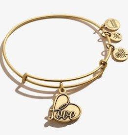 ALEX AND ANI Charm Bangle Love IV Gold