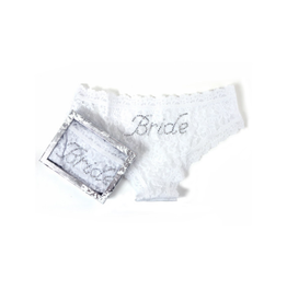 HANKY PANKY BRIDE CHEEKY LACE HIPSTER W/GIFT BOX