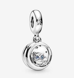PANDORA Always by Your Side Owl Dangle Charm Silver