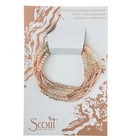 SCOUT CURATED WEARS SCOUT WRAP SHELL ROSE GOLD BRACELET