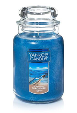 YANKEE CANDLE 22oz Jar Turquoise Glass
