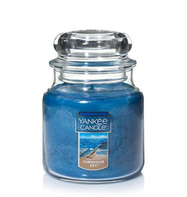YANKEE CANDLE 14oz Jar Turquoise Glass
