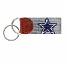 SMATHERS & BRANSON Dallas Cowboys Needlepoint Key Fob