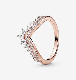 PANDORA Princess Wishbone Ring Rose Gold: Select Sizes