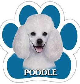 E&S IMPORTS Car Magnets Poodle White