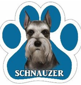 E&S IMPORTS Car Magnets Schnauzer Cropped
