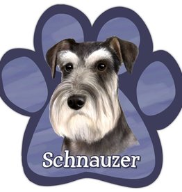 E&S IMPORTS Car Magnets Schnauzer Uncropped