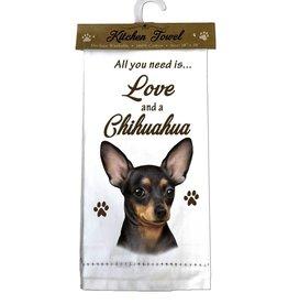 Kitchen Towel Chihuahua, black