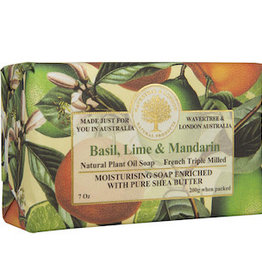 AUSTRALIAN NATURAL SOAP 7oz. Bar Soap Basil Lime & Mandarin