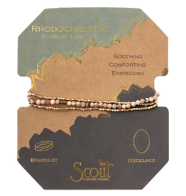 SCOUT CURATED WEARS Delicate Stone Rhodonite Love