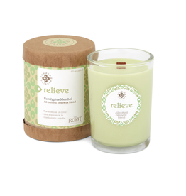 ROOT CANDLES SEEKING BALANCE 6.5 OZ.-EUCALYPTUS MENTHOL-RELIEVING