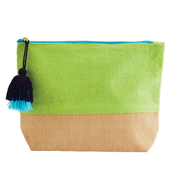 MUDPIE Color Pop Jute Bag Green