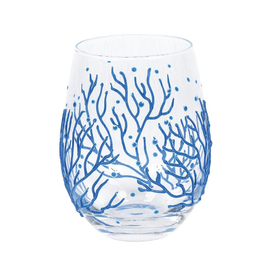 ENESCO CORAL STEMLESS GLASS