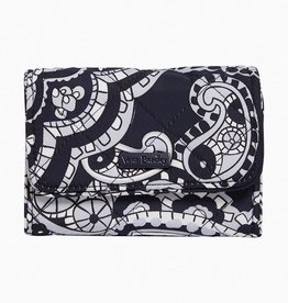 Iconic RFID Riley Compact Wallet Deep Night Paisley Neutral