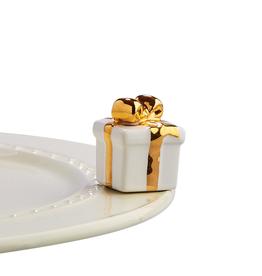 NORA FLEMING Mini Golden Wishes White & Gold Gift