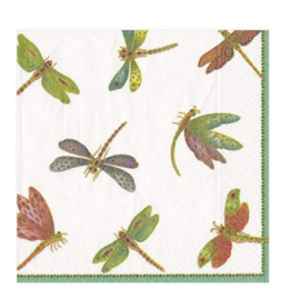 CASPARI DRAGONFLIES COCKTAIL NAPKIN