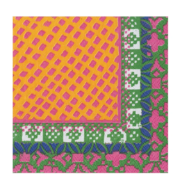 CASPARI FRIDA FUSHIA/ORANGE COCKTAIL NAPKIN
