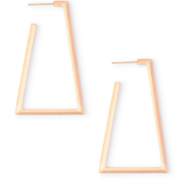 KENDRA SCOTT Easton Hoop Earring Rose Gold Metal