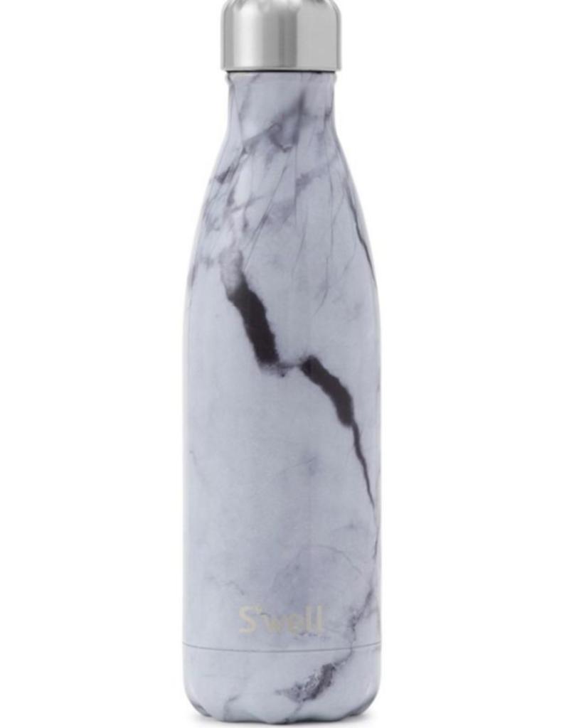 S'WELL 25oz White Marble Bottle