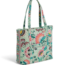 Iconic Vera Tote Mint Flowers ret