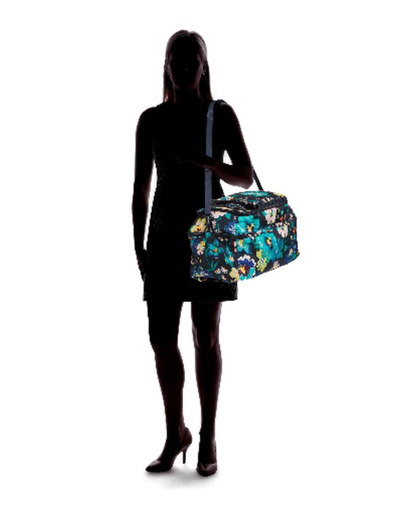VERA BRADLEY Lighten Up Convertible Travel Bag Firefly Garden