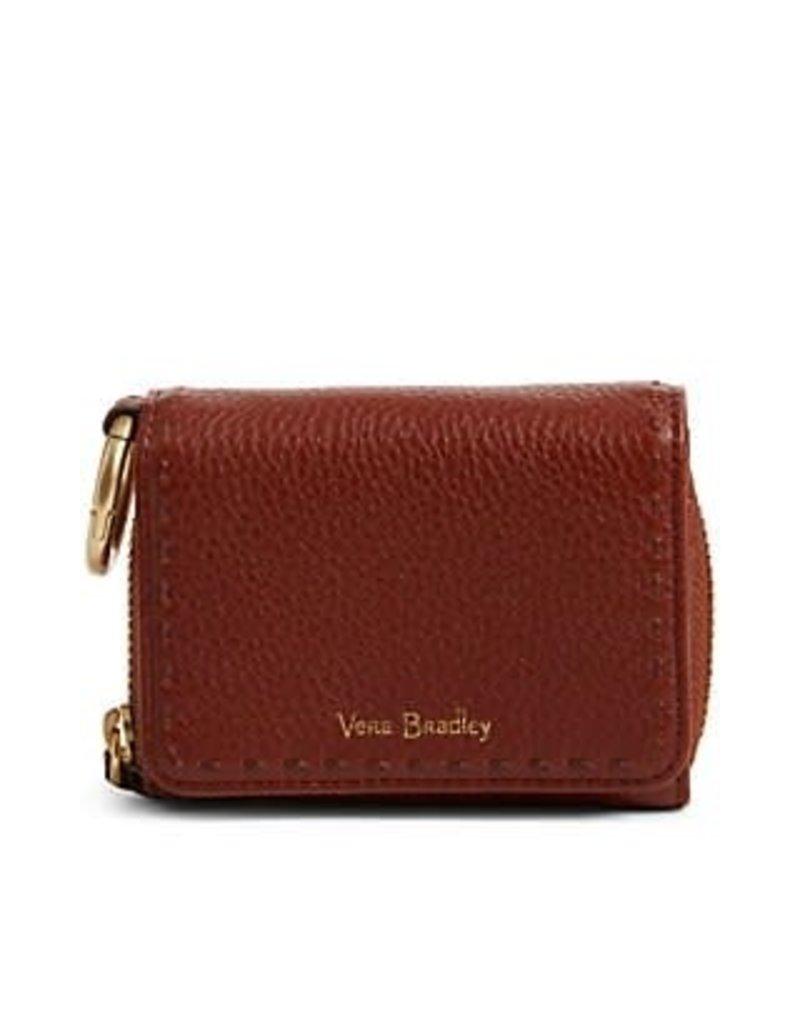 VERA BRADLEY Mallory RFID Card Case -Mesa Brown