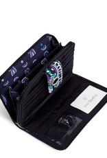 Iconic RFID Turnlock Wallet Deep Night Paisley