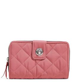 VERA BRADLEY Iconic RFID Turnlock Wallet Strawberry Ice