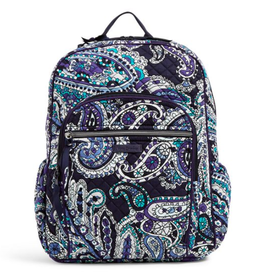 VERA BRADLEY Iconic Campus Backpack Deep Night Paisley