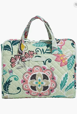 Iconic Hanging Travel Organizer Mint Flowers