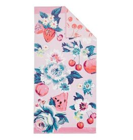 Beach Towel Double Sided  Rosy Garden Picnic
