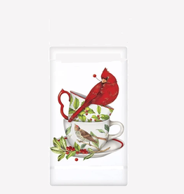 MARY LAKE THOMPSON Flour Sack Towel Cardinal Cherry Teacup