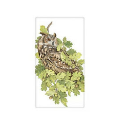 MARY LAKE THOMPSON Flour Sack Towel Owl Oak Leaves
