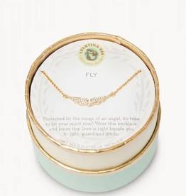 SPARTINA Sea La Vie Necklace 18'' Fly/Wings Gold