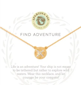 "SPARTINA Sea La Vie Necklace 18"" Adventure/Compass"