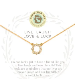 SPARTINA Sea La Vie Necklace 18'' Luck/Quatrefoil Gold